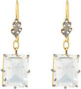 Cathy Waterman Women's White Topaz, Diamond & Gold Double-Drop Earrings