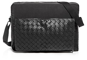 Bottega Veneta 1.5 Intrecciato Nylon & Leather Messenger Bag