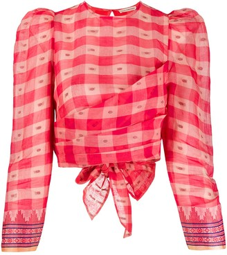Ulla Johnson Eden checkered blouse