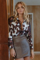Thumbnail for your product : Nasty Gal Womens Faux Leather Bodycon Mini Skirt - Brown - 10