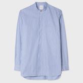 Paul Smith Men's Striped Band-Collar Shirt With 'Artist Stripe' Cuff