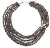 John Hardy Legends Cobra Batu Grey Moonstone, Black Onyx & Sterling Silver Multi-Strand Beaded Necklace