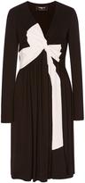 Paule Ka Bicolor Knotted Pleated Dress