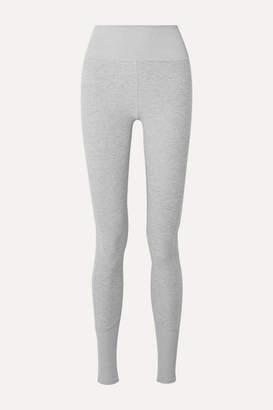 Alo Yoga Lounge Melange Stretch-jersey Leggings