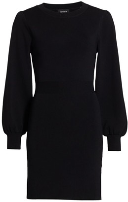 The Kooples Blouson-Sleeve Knit Dress