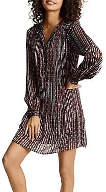 Reiss Celia Striped Diamond Print Dress