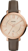 Fossil ES3707 Jacqueline stainless steel and leather watch