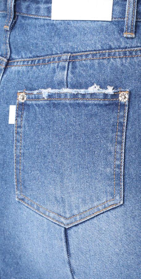 Sjyp Front Slits Denim Skirt