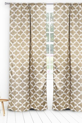 Duck River Textile L'kyra Geometric Blackout Curtain Set - Taupe