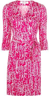Diane von Furstenberg V-neck wrap front silk dress
