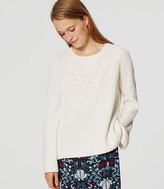 LOFT Ribbed Bell Sleeve Sweater