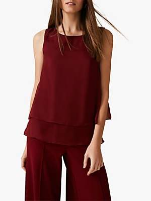 Phase Eight Martyna Pure Silk Blouse, Cinammon