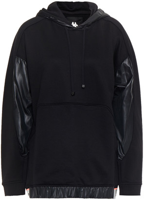 Koral Coated Shell-paneled French Terry Hoodie