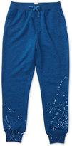 Ralph Lauren Splatter-Printed Fleece Jogger Pants, Big Girls (7-16)
