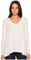 Michael Stars Super Soft Madison Long Sleeve V-Neck Top Women's Clothing