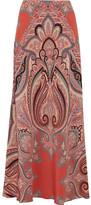 Etro Paisley-print Silk Maxi Skirt - Coral