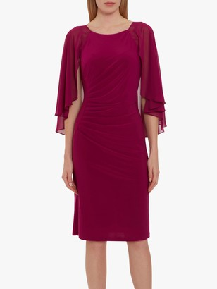 Gina Bacconi Jarielle Jersey Cape Sleeve Dress