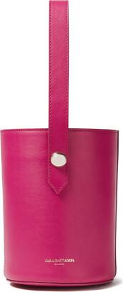 Sara Battaglia Studded Leather Bucket Bag