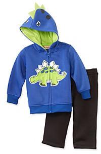Kids Headquarters Baby Boys' Blue 2-pc. Dino Hoodie Set