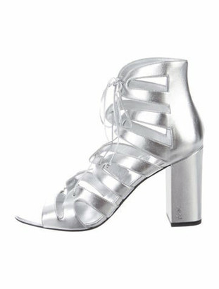 Saint Laurent Leather Gladiator Sandals w/ Tags Silver