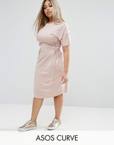 Asos Midi T-Shirt Dress with Corset Detail