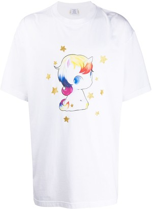 Vetements oversized unicorn print T-shirt
