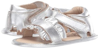Old Soles Ruffle (Infant/Toddler) (Silver) Girl's Shoes