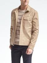 Banana Republic Khaki Front-Zip Jacket