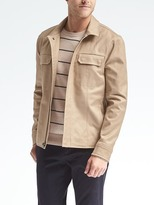 Banana Republic Khaki Short Zip Jacket
