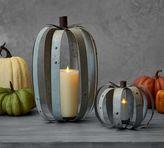 Pottery Barn Galvanized Pumpkin Pillar Holder
