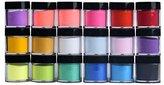 Binmer(TM) 18 Colors Nail Art Tips UV Gel Powder Dust Design 3D DIY Decoration Set