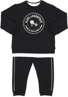 Karl Lagerfeld Paris Cotton Sweatshirt, Pants & T-shirt