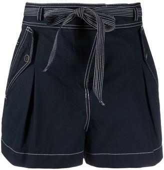 Ulla Johnson Tied-Waist Cotton Shorts