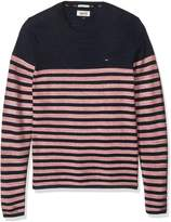 Tommy Hilfiger Men's Thdm Basic Crew Neck Long Sleeve Pull Over Sweater