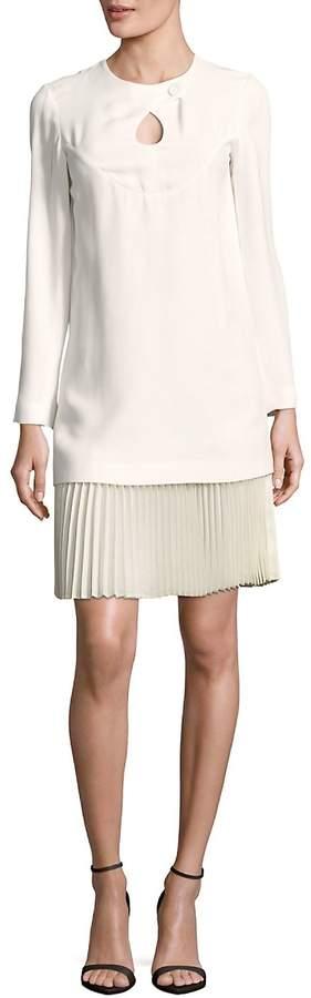 Derek Lam Women's Solid Long-Sleeve Cutout Top