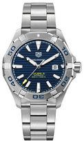 Tag Heuer Aquaracer Fine-Brushed Steel 3-Row Bracelet Watch, WAY2012BA0927