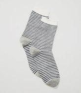 LOFT Shimmer Stripe Crew Socks