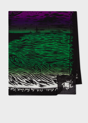 'Woodcut Moon' Print Lightweight Scarf