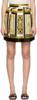 Versace Multicolor Silk Barocco Mosaic Miniskirt