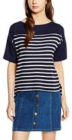 Great Plains Women's Waffle on Cropped Striped Short Sleeve T-Shirt