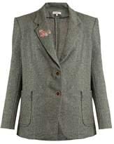 Natasha Zinko Oversized wool-blend tweed jacket