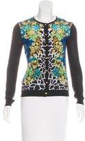 Versace Printed Silk Cardigan
