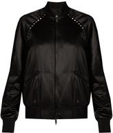 Valentino Rockstud Untitled #14 satin bomber jacket