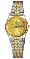 Seiko Women's SUAG52 5 Automatic Gold Dial Two-Tone Stainless-Steel Watch