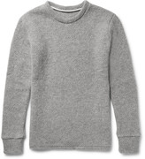 The Elder Statesman Popcorn-Stitch Cashmere Sweater