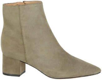 Schutz Carry Pointed Suede Ankle Boots