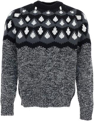 Prada Intarsia Knitted Sweater