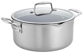 Zwilling J.A. Henckels Zwilling Clad Cfx 8-Qt. Dutch Oven with Strainer Lid and Pouring Spouts