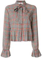 MSGM houndstooth blouse