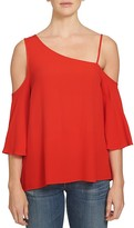 1 STATE 1.STATE Asymmetric Cold Shoulder Blouse